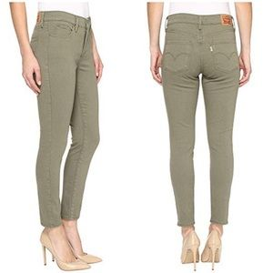 Levi's 311 shaping skinny size 28 olive green